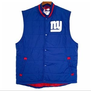 NWT New York Giants Mitchell & Ness Puffer Vest